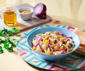 Calamari cipolle e patate