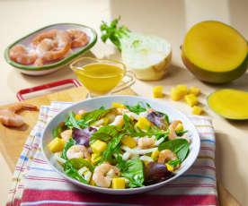 Gamberi in insalata esotica