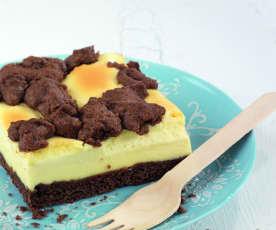 Falso cheesecake con streusel de chocolate