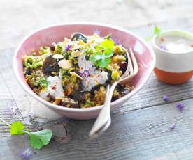 Salade d'aubergine au yaourt