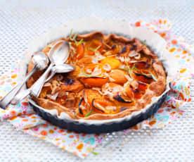 Tarte rustique abricot-romarin ou lavande