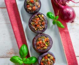 Cipolle ripiene di verdure