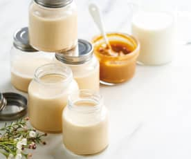 Iogurtes de leite condensado