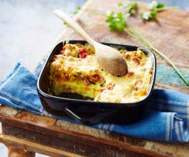 Lasagnes à la béchamel au camembert