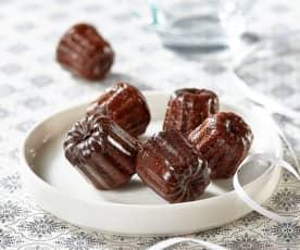 Mini-cannelés au chocolat