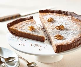 Tarte au chocolat et noix du Périgord