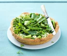 Tarte aux légumes croquants