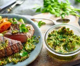 Grüne Steaksauce