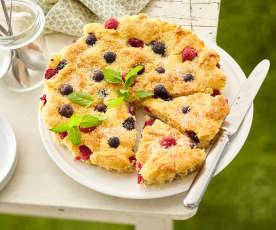 Tartes au sucre et aux fruits d'été