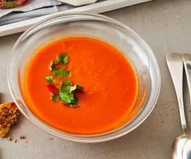Möhren-Tomaten-Suppe