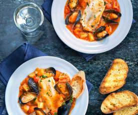 Zuppa di merluzzo e cozze