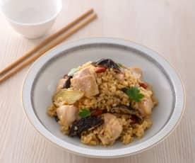 台式麻油雞燉飯