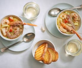 Zuppa di crostacei e seppie
