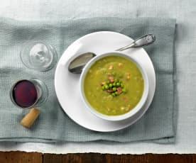 Zuppa di piselli spezzati
