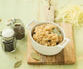 Gekochtes Sauerkraut