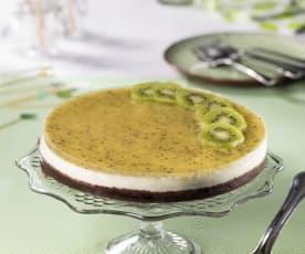 Cheesecake cioccolato e salsa ai kiwi