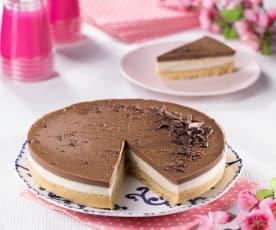 Cheesecake vaniglia e cioccolato