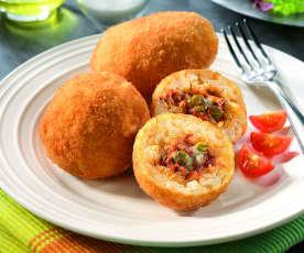 Sycylijskie arancini z mięsem