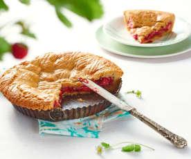 Gâteau basqu'ô fraises