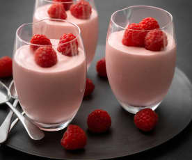 Piped Raspberry Mousse