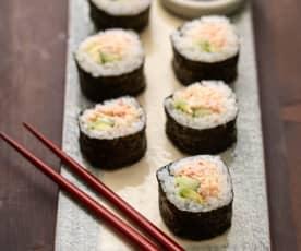 Sushi z surimi i serkiem kremowym
