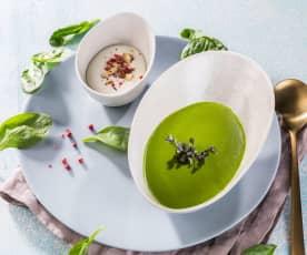 Spinatsuppe mit Gorgonzolacreme