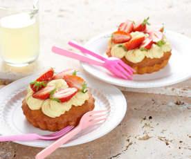 Tarte aux fraises et lemond curd