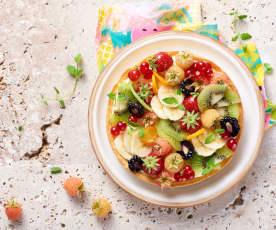 Tarte aux fruits à la crème mousseline