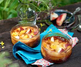 Clafoutis aux nectarines et caramel