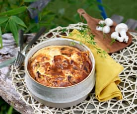 Clafoutis poulet-champignon