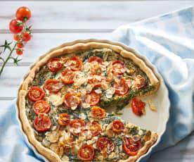 Spinazie- en tomatenquiche