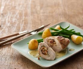 Cranberry and Camembert stuffed chicken