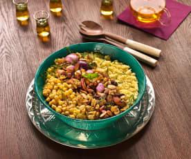 Sałatka z kuskusem i ciecierzycą w stylu marokańskim
