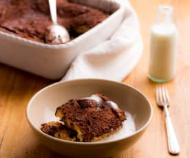 Chocolade broodpudding