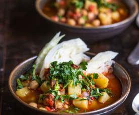 Chorizo, Potato and Cabbage Soup