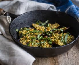 Mussels with Basil, Almonds and Butter