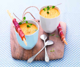 Gazpacho prosciutto e melone