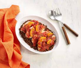 Chicken and Quinoa with Peach Salsa