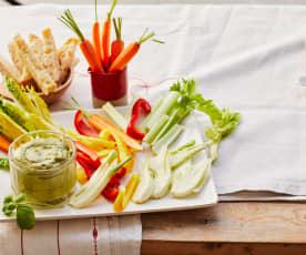Gemüse mit Basilikum-Bagna-Fredda