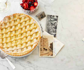 Crostata mit Vanillecreme