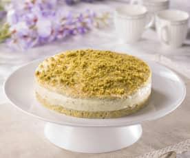 Torta dacquoise al pistacchio