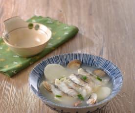 山藥鮮魚蛤蜊湯