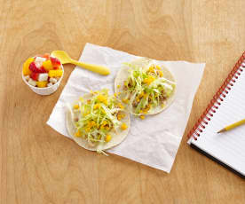 Chicken Soft Tacos with Fruit Salsa