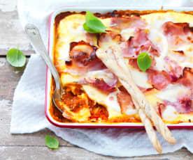 Gratin de polenta à l'italienne