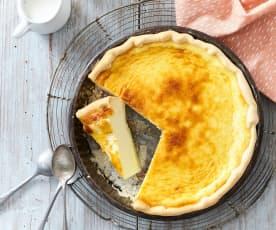 Tarte sucrée au fromage frais