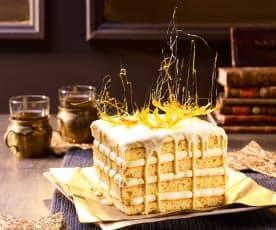 Quadratische Eierlikör-Torte