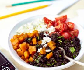 Linsensalat mit Tomaten und Feta