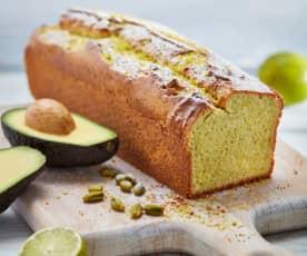 Avocado-Pistazien-Kuchen mit Limette