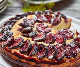 Versunkener Pflaumen-Marzipan-Kuchen