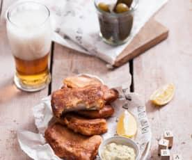 Szczupak w cieście piwnym z sosem duńskim